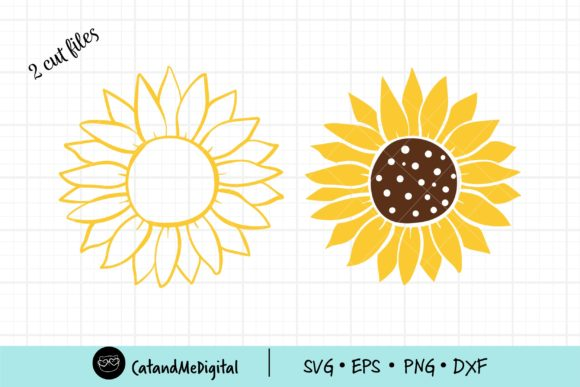 Sunflower SVG Cut File Graphic Illustrations By CatAndMe
