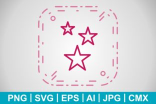 Print on Demand: Vector Stars Icon Graphic Icons By IYIKON