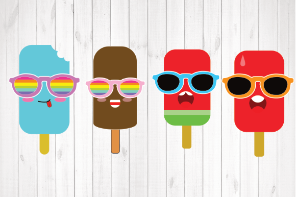 Print on Demand: Kawaii Popsicle, Popsicle Clipart Graphic Illustrations By rayan
