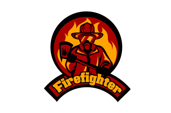 Fire Fighter Designs & Drawings Craft Cut File By Creative Fabrica Crafts