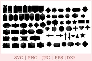 75 Tag Shapes Pack Graphic Print Templates By CrazyCutDesigns