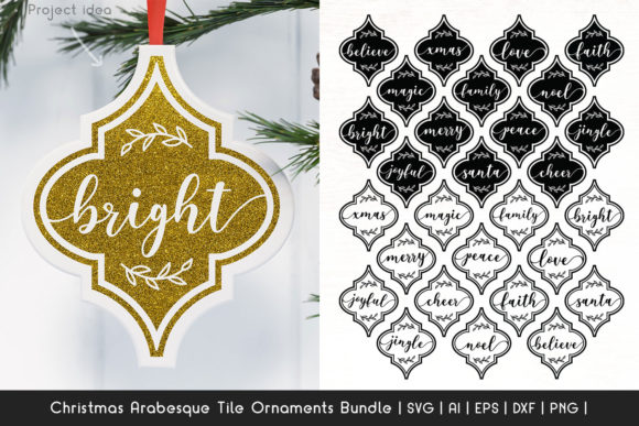 Print on Demand: Arabesque Tile Ornaments SVG Bundle Graphic Crafts By Dasagani