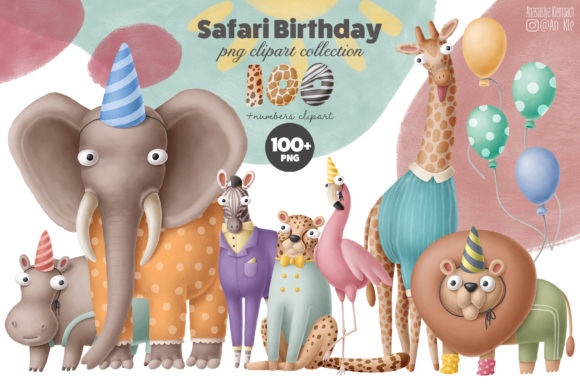 Print on Demand: Birthday Animals 100+ Collection Graphic Illustrations By Architekt_AT