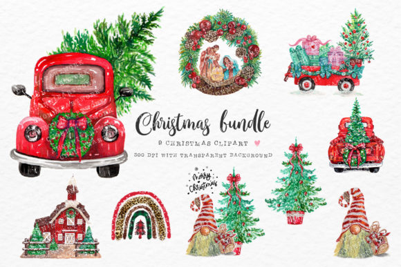 Christmas Bundle 9 PNG Graphic Crafts By Chonnieartwork