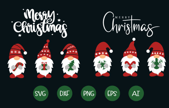 Christmas Gnomes SVG  Cut File Graphic Crafts By artdee2554