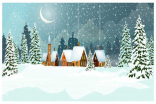 Print on Demand: Christmas Landscape Background 1 Graphic KDP Interiors By design-world