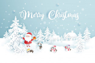 Print on Demand: Christmas Landscape Background 3 Graphic KDP Interiors By design-world