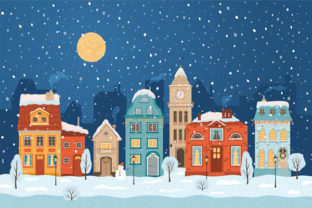 Print on Demand: Christmas Landscape Background 4 Graphic KDP Interiors By design-world