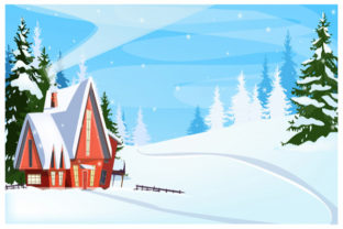 Print on Demand: Christmas Landscape Background 5 Graphic KDP Interiors By design-world