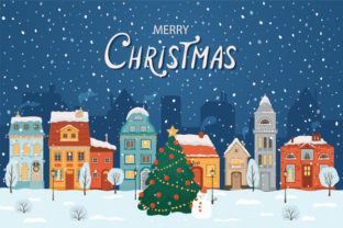 Print on Demand: Christmas Landscape Background 6 Graphic KDP Interiors By design-world