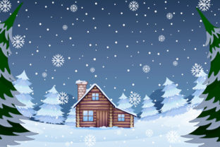 Print on Demand: Christmas Landscape Background 7 Graphic KDP Interiors By design-world