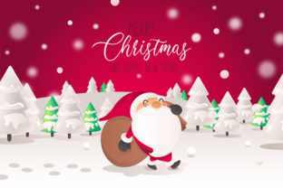 Print on Demand: Christmas Landscape Background 8 Graphic KDP Interiors By design-world