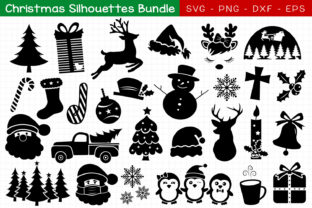 Christmas Silhouette Bundle Graphic Crafts By All About Svg