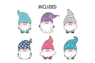 Cute Gnome Winter Clipart Graphic Illustrations By CatAndMe 2