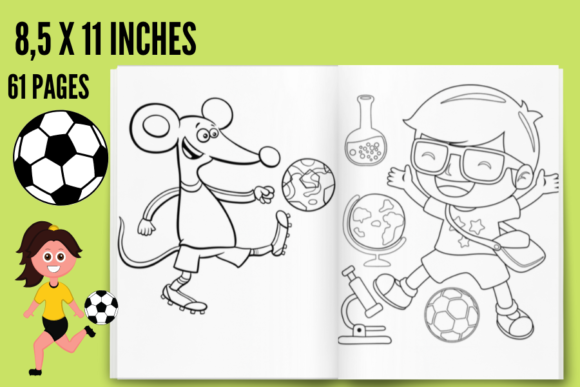 FOOTBALL COLORING BOOK ENGLISH VERSION (Graphic) By Piqui Designs ·  Creative Fabrica