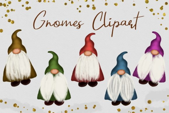 Gnomes Clipart Graphic Illustrations By PinkPearly