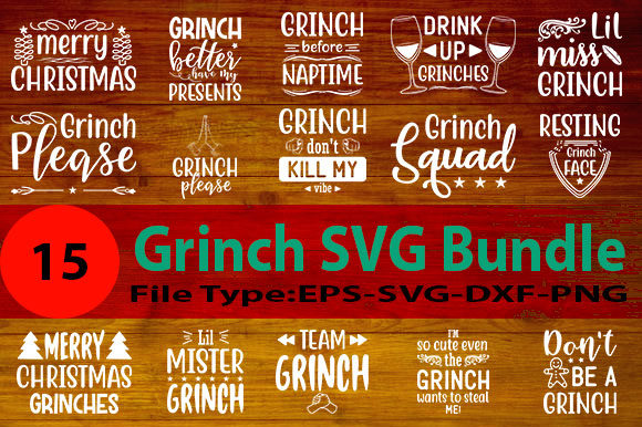 Print on Demand: Grinch SVG Designs Bundle Graphic Print Templates By Design Store