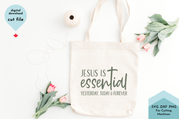 Print on Demand: Jesus is Essential SVG, Christian Svg Graphic Crafts By Lettershapes