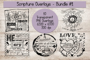 Scripture Overlays Bundle #1 Graphic Crafts By Words Count Designs