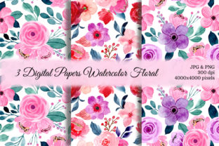 Print on Demand: Seamless Pattern Floral Watercolor 29 Graphic Patterns By asrulaqroni
