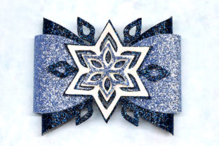Snowflake Bow Template Graphic 3D SVG By ArtiCuties