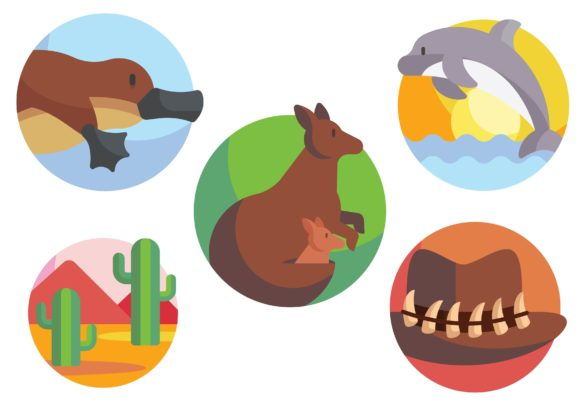Australia Graphic Icons By ssiimpti73