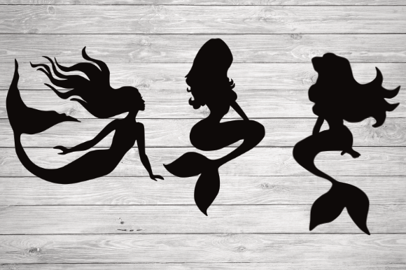 Print on Demand: Mermaid Silhouette Graphic Illustrations By rayan