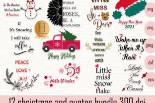Print on Demand: 12 Christmas Svg Bundle and Quotes Graphic Crafts By Heba Morsy