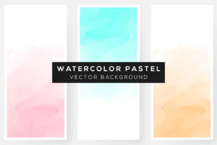 Print on Demand: 3 Watercolor Pastel Backgrounds Graphic Backgrounds By Dzyneestudio