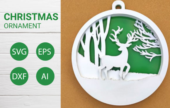 Christmas Ornament SVG for Cut File Graphic Crafts By artdee2554