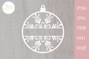 Christmas Ornament Svg, Snowflake Svg Graphic Crafts By MySVGDesigns
