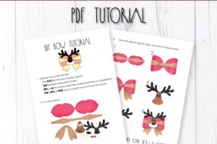 Deer Hair Bow Template Graphic 3D SVG By ArtiCuties 2