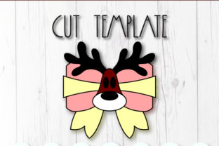 Deer Hair Bow Template Graphic 3D SVG By ArtiCuties 3