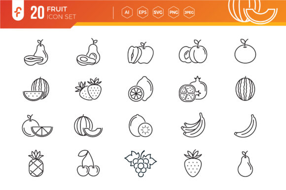 Fruit Icon Set Graphic Icons By ferart88