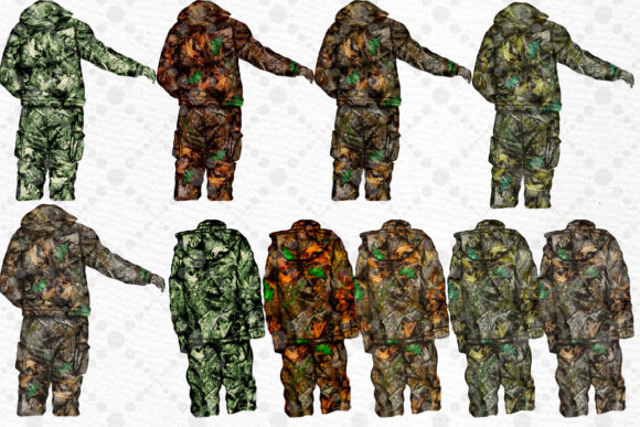 Hunting Clipart Father and Son Graphic Download