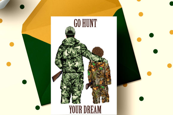 Hunting Clipart Father and Son Graphic Preview