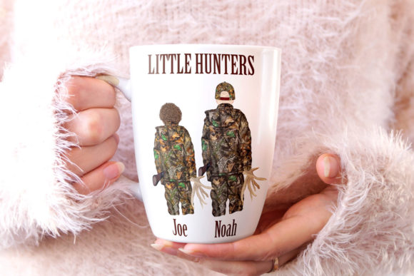 Hunting Clipart Father and Son Graphic Image