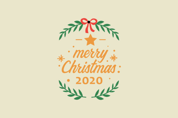 Merry Christmas Wreath Design Graphic Icons By risaputra253