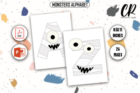 Monsters Alphabet Coloring Book - KDP Graphic Coloring Pages & Books Kids By Creative Ram