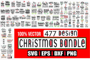 Print on Demand: Bundle - 477 Christmas Design Graphic Crafts By svg.in.design