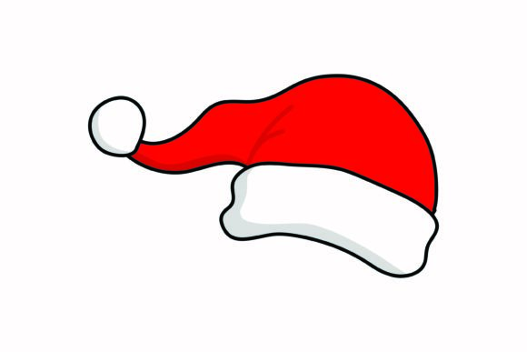Santa's Hat Christmas Icon Graphic Icons By yellowhellow20