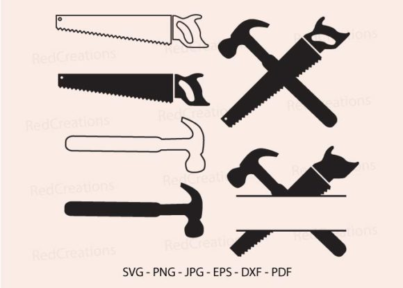 Saw and Hammer Svg, Tools Clipart SVG Cut Files