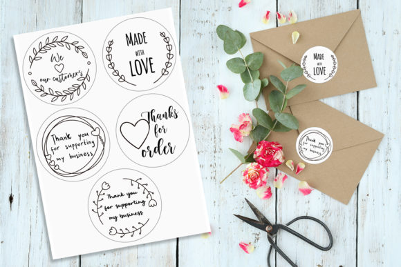 Thank You - Stickers for Business Graphic Illustrations By nastiatrel