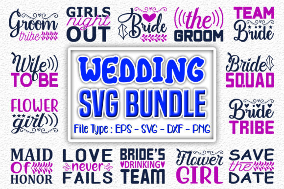 Print on Demand: Wedding   Quotes Designs Bundle Graphic Print Templates By svg_hut