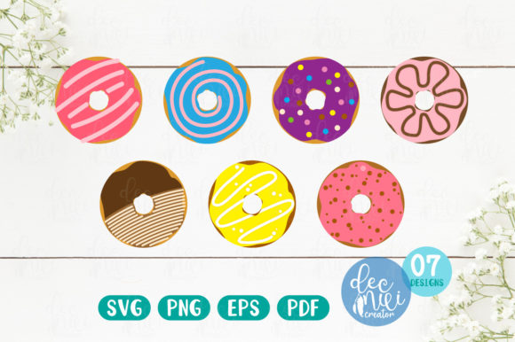 Print on Demand: Donuts Set Graphic Illustrations By decnui.creator