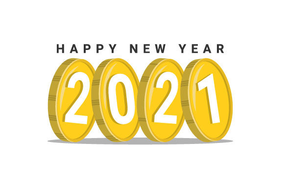 Happy New Year 2021 Vector (Graphic) by hartgraphic ...