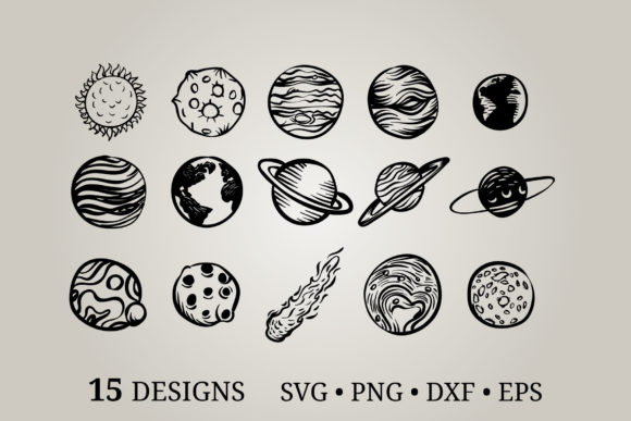 Planet Svg Graphic Print Templates By Euphoria Design