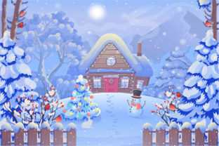 Print on Demand: Christmas Landscape Background 12 Graphic KDP Interiors By design-world