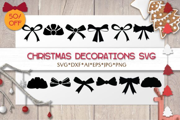Print on Demand: Christmas SVG Decoration  | Bow Ribbon Graphic Objects By pufanya