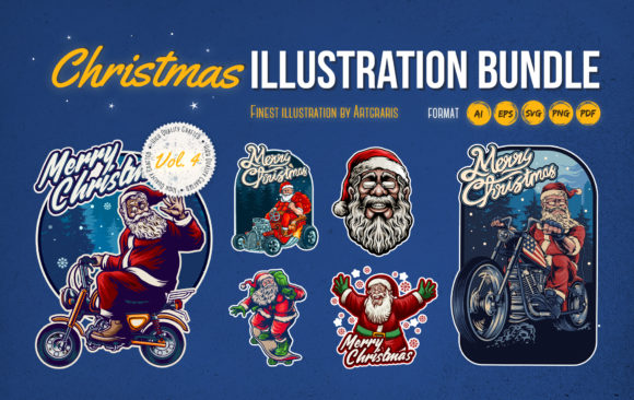 Christmas Sport Design Bundle Graphic Illustrations By artgrarisstudio